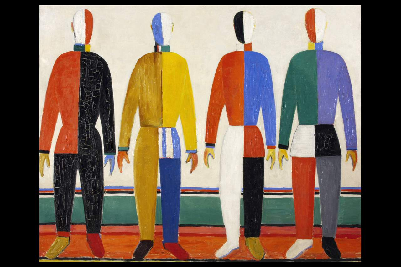 REVOLUTION The Sportsmen by Kazimir Malevich. Photo © Public Domain