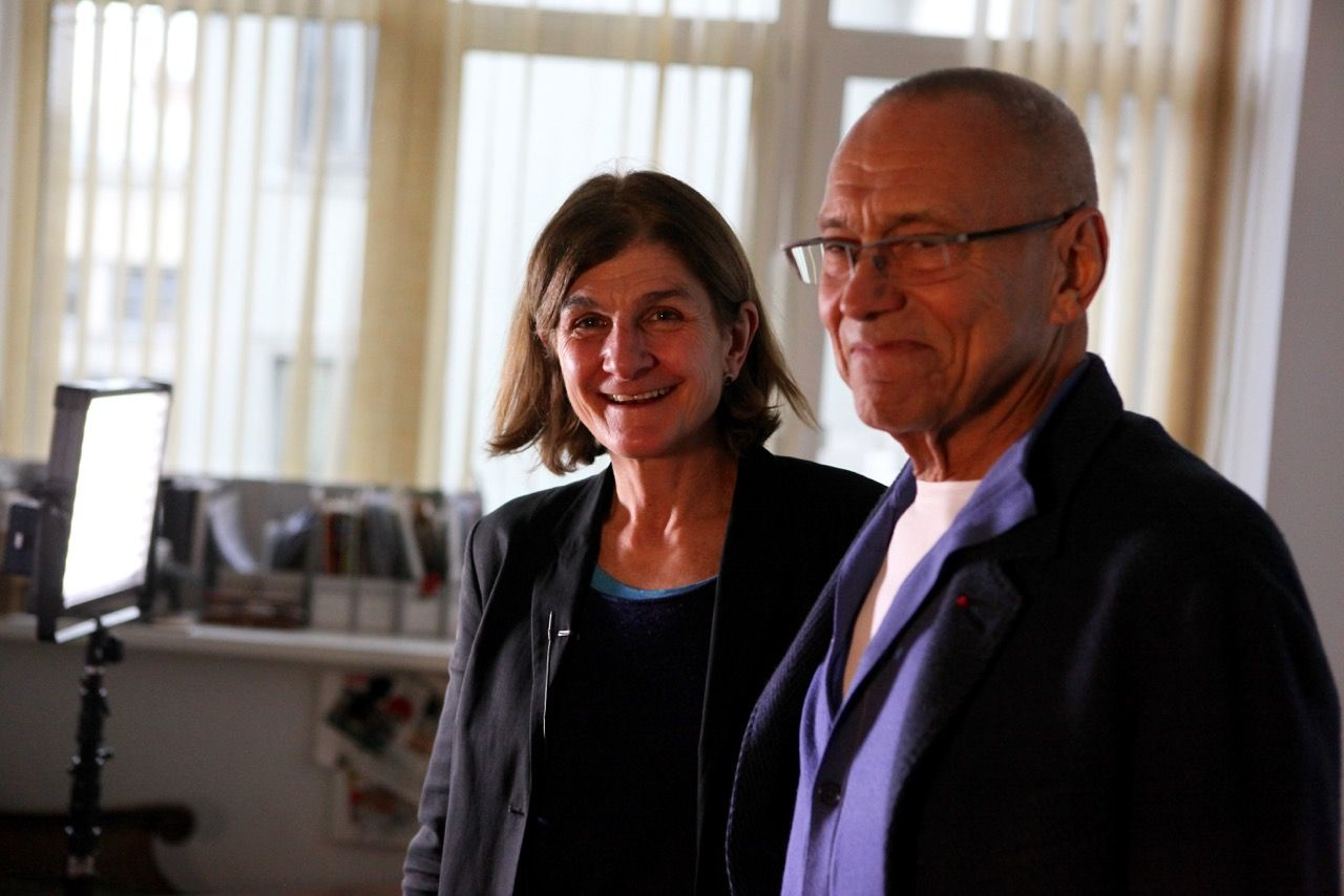 REVOLUTION Margy Kinmonth with Andrei Konchalovsky. Photo © www.foxtrotfilms.com
