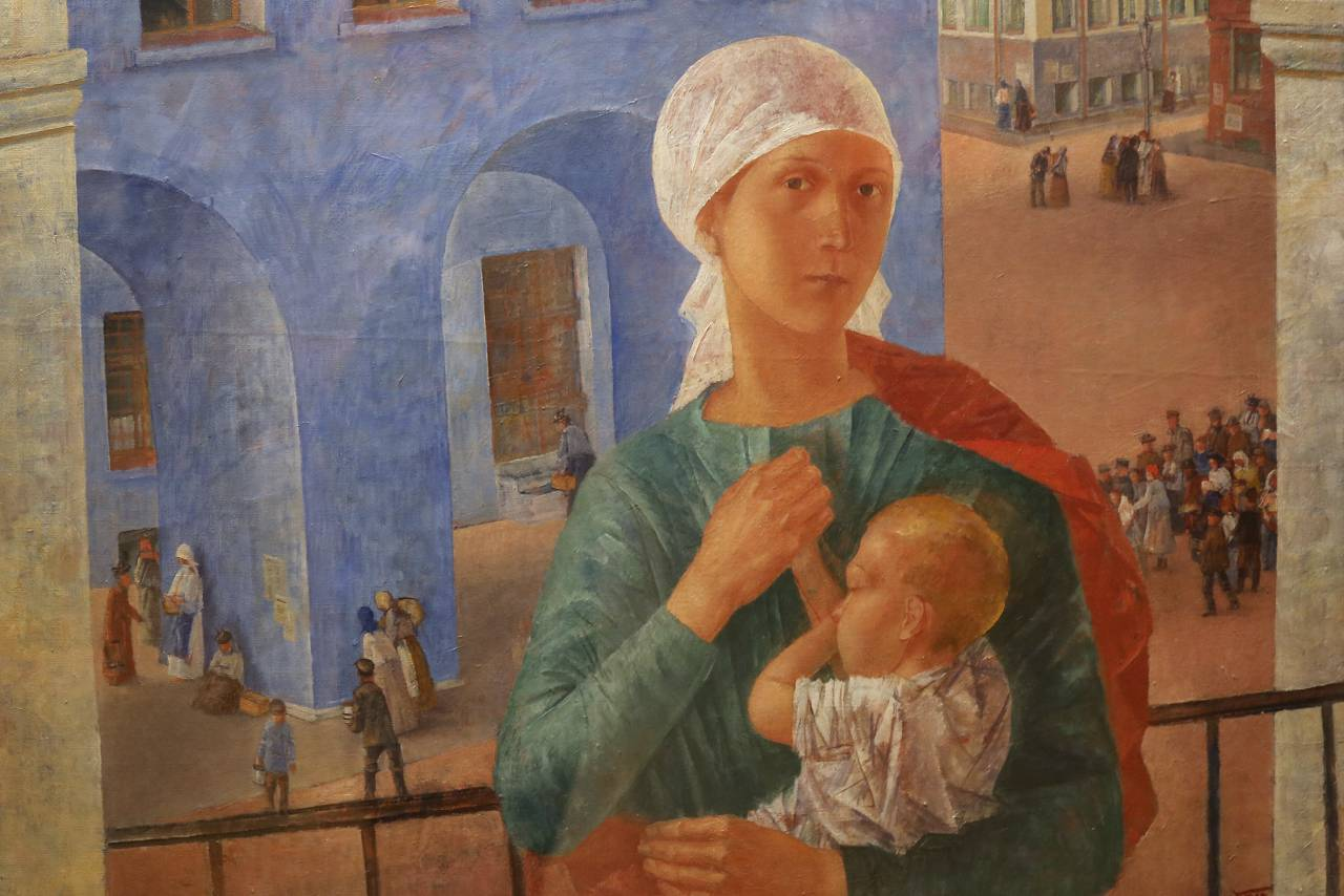 REVOLUTION Petrograd Madonna (detail) by Kuzma Petrov-Vodkin. Photo © www.foxtrotfilms.com