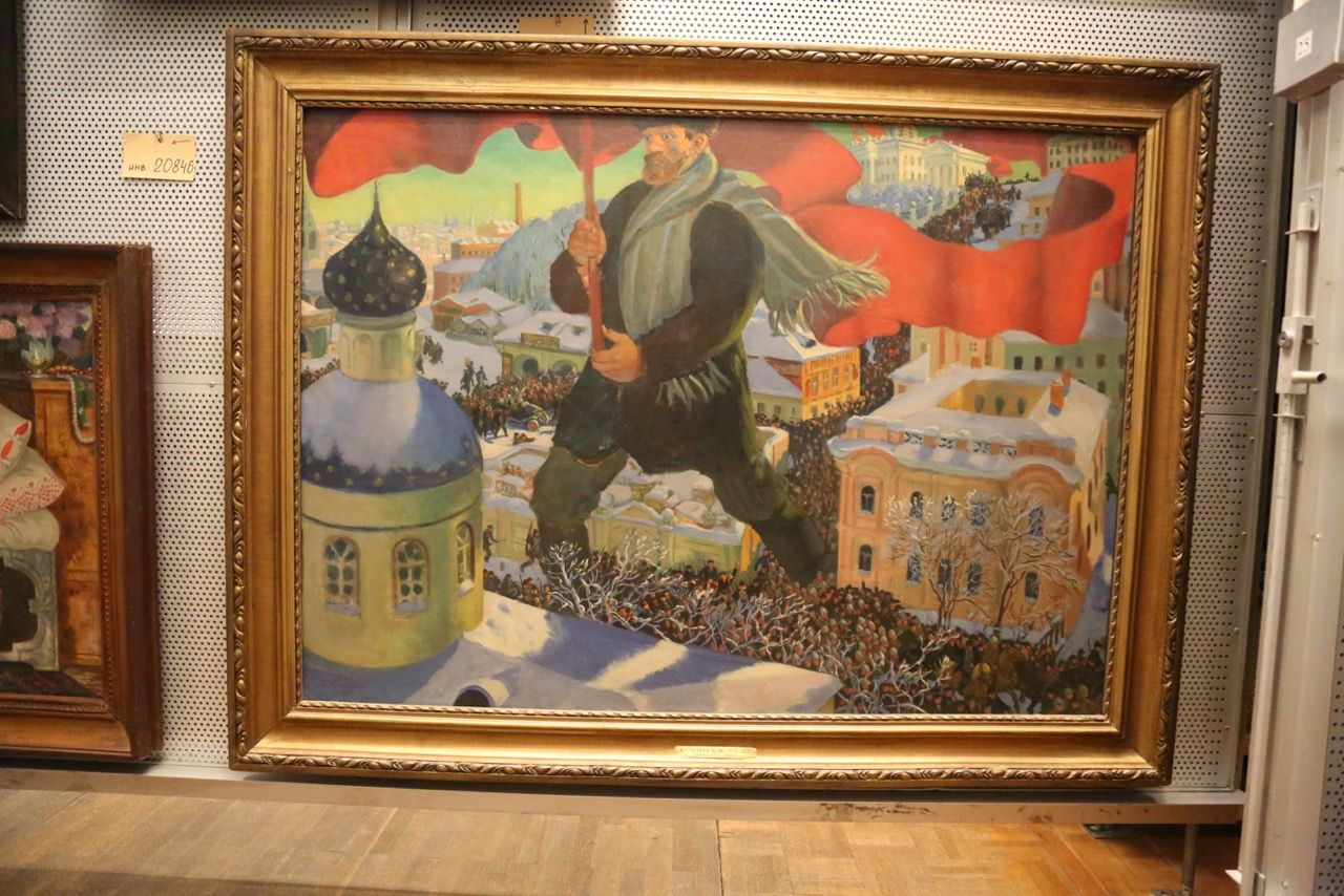 REVOLUTION The Bolshevik by Boris Kustodiev. Photo © www.foxtrotfilms.com
