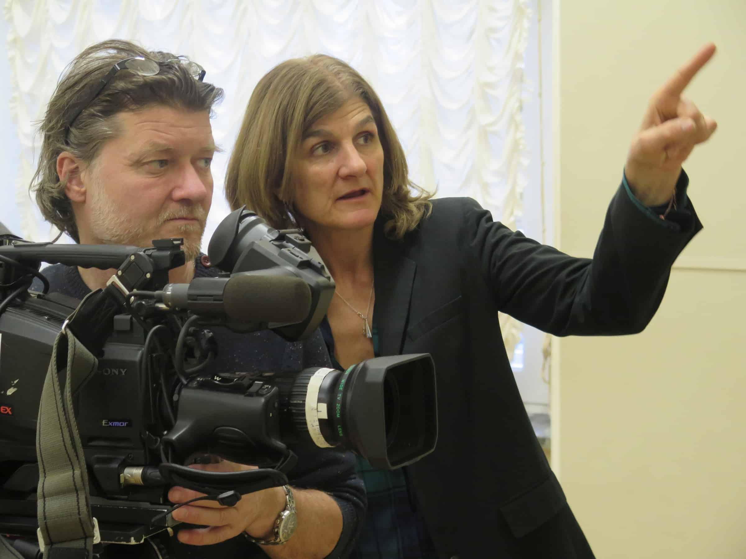 Director of Photography Maxim Tarasyugin and Margy Kinmonth