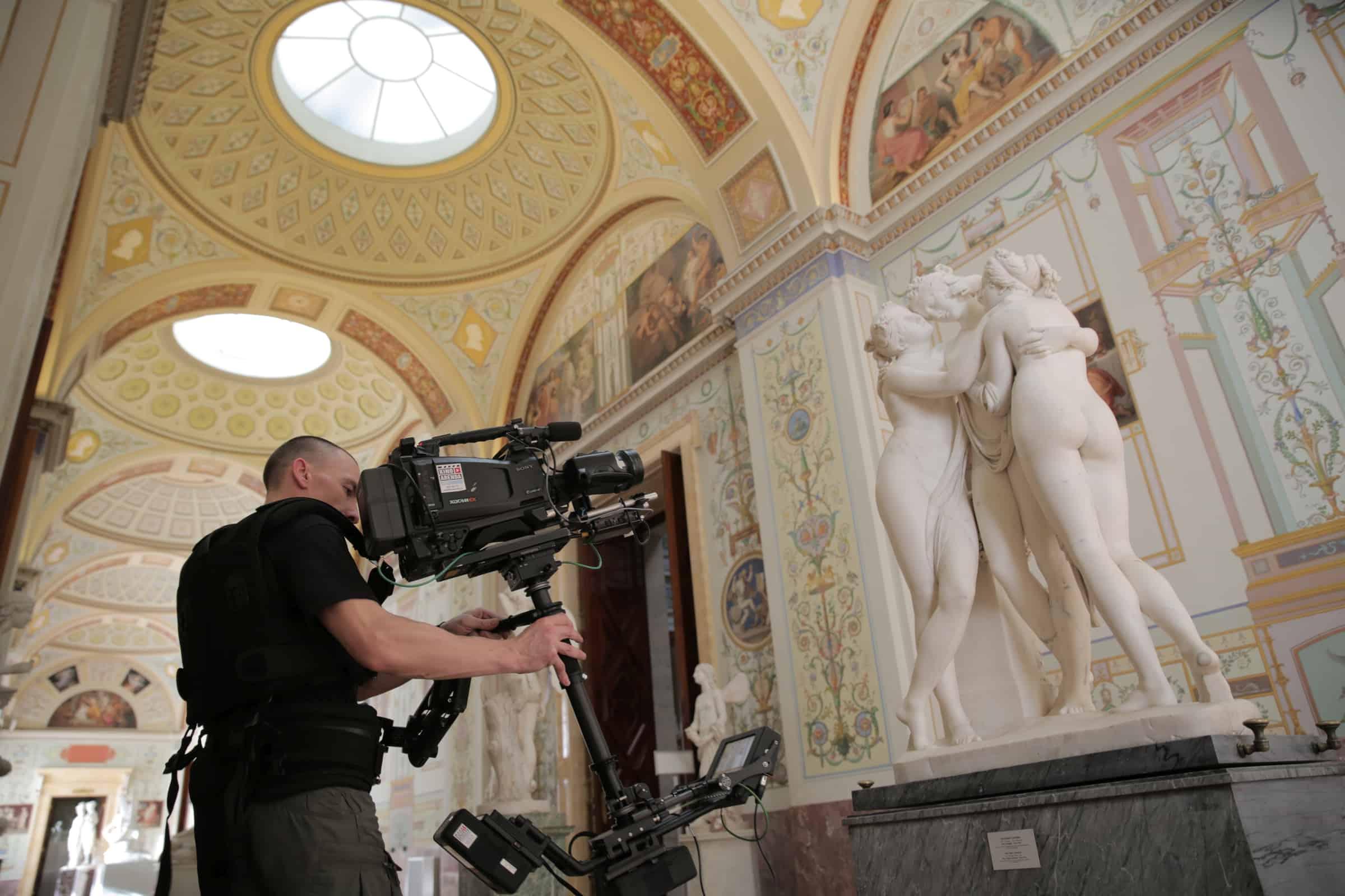 Filming Canova: The Three Graces