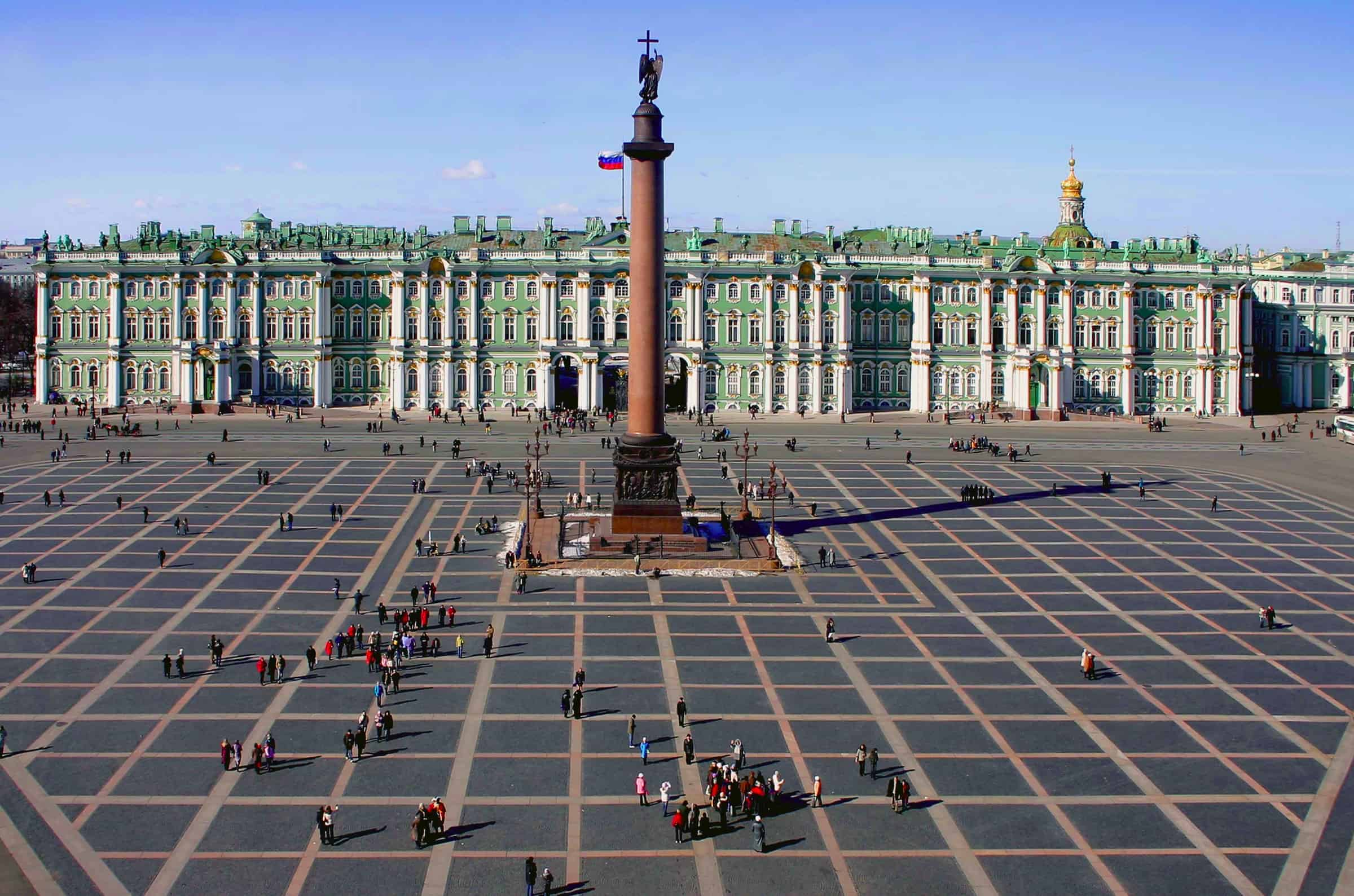 The Alexander Column and The State Hermitage Museum