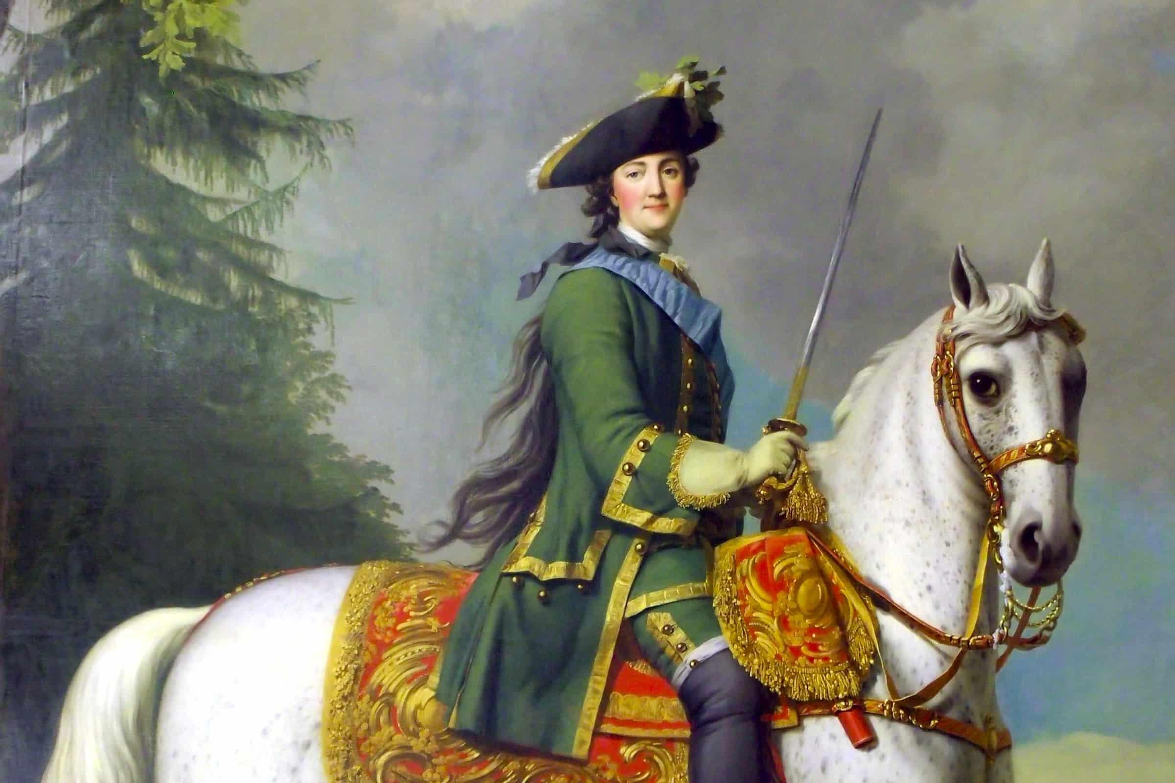 Eriksen: Portrait of Catherine The Great on Horseback