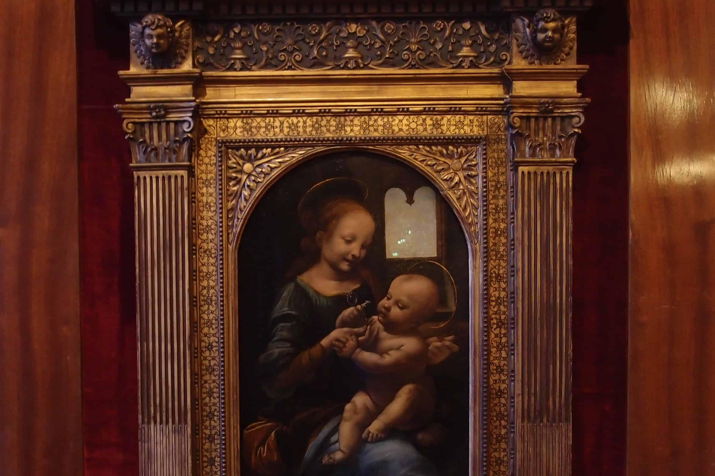 Da Vinci: Madonna Benois. Courtesy of The State Hermitage Museum