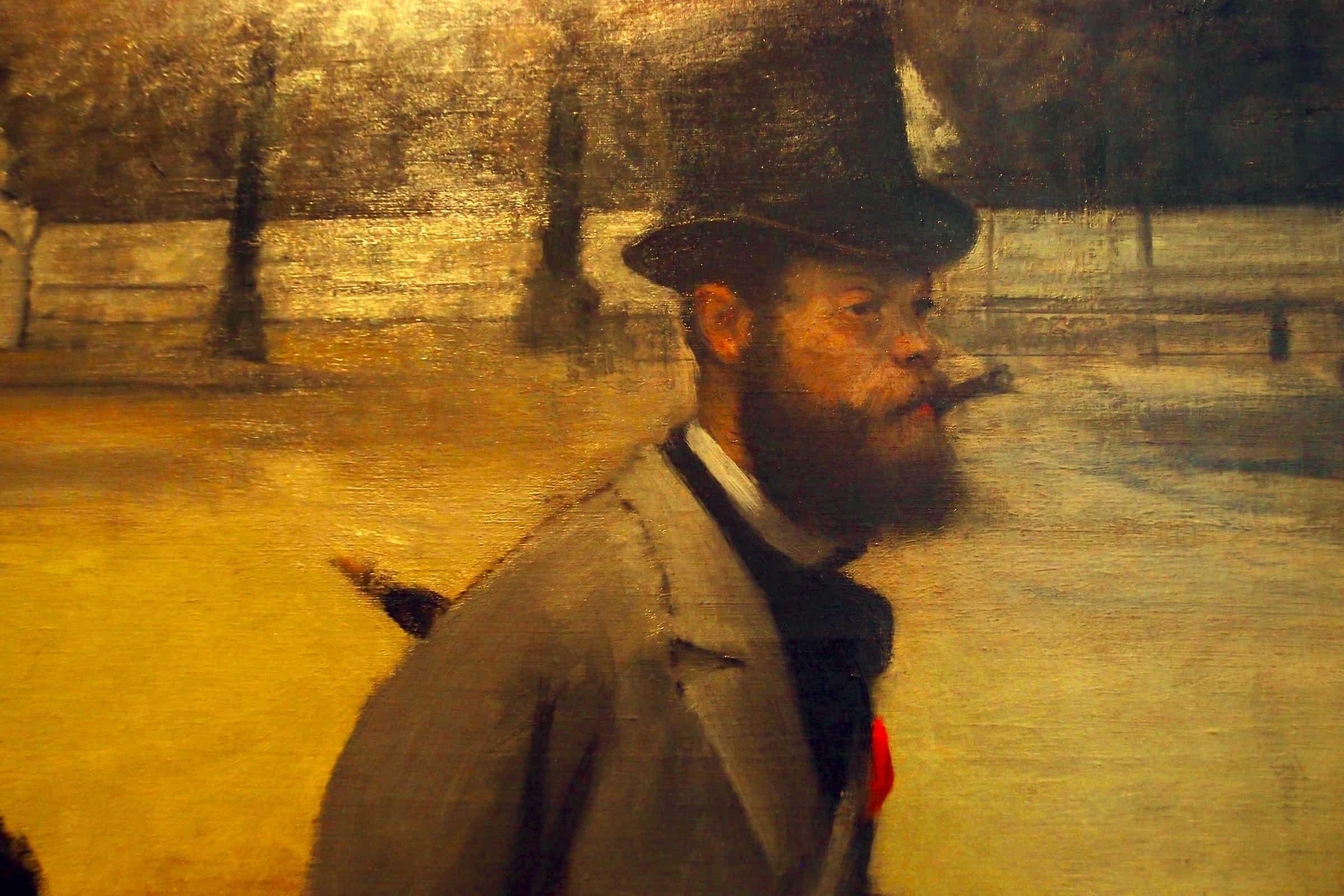Degas: Place de la Concorde (detail)
