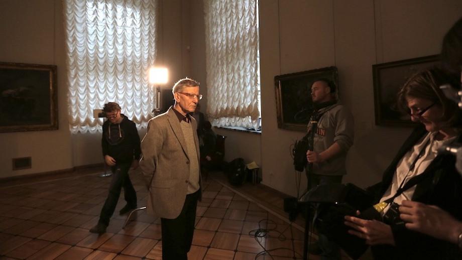 Filming Curator of Western European Art Albert Kostenevich