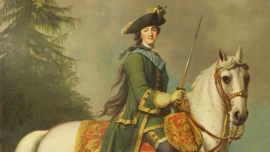 Eriksen: Portrait of Catherine The Great on Horseback