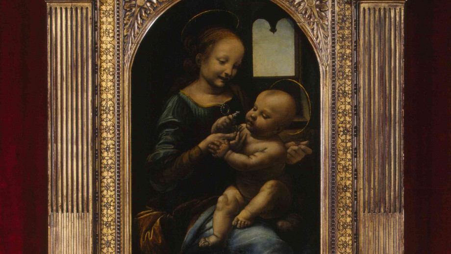 Da Vinci: Madonna Benois. Courtesy of The State Hermitage Museum