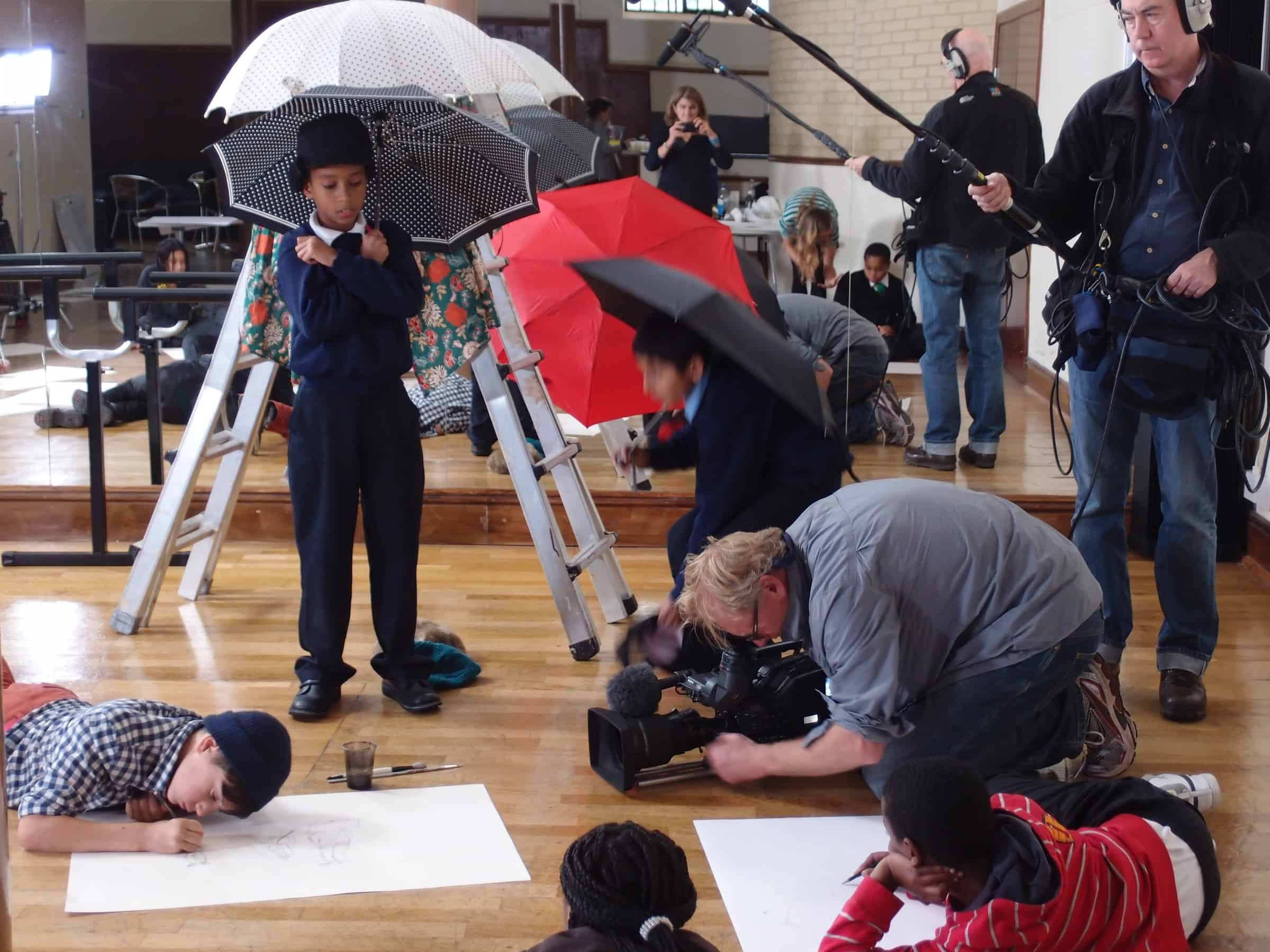 Filming at The Prince's Drawing School After School Club