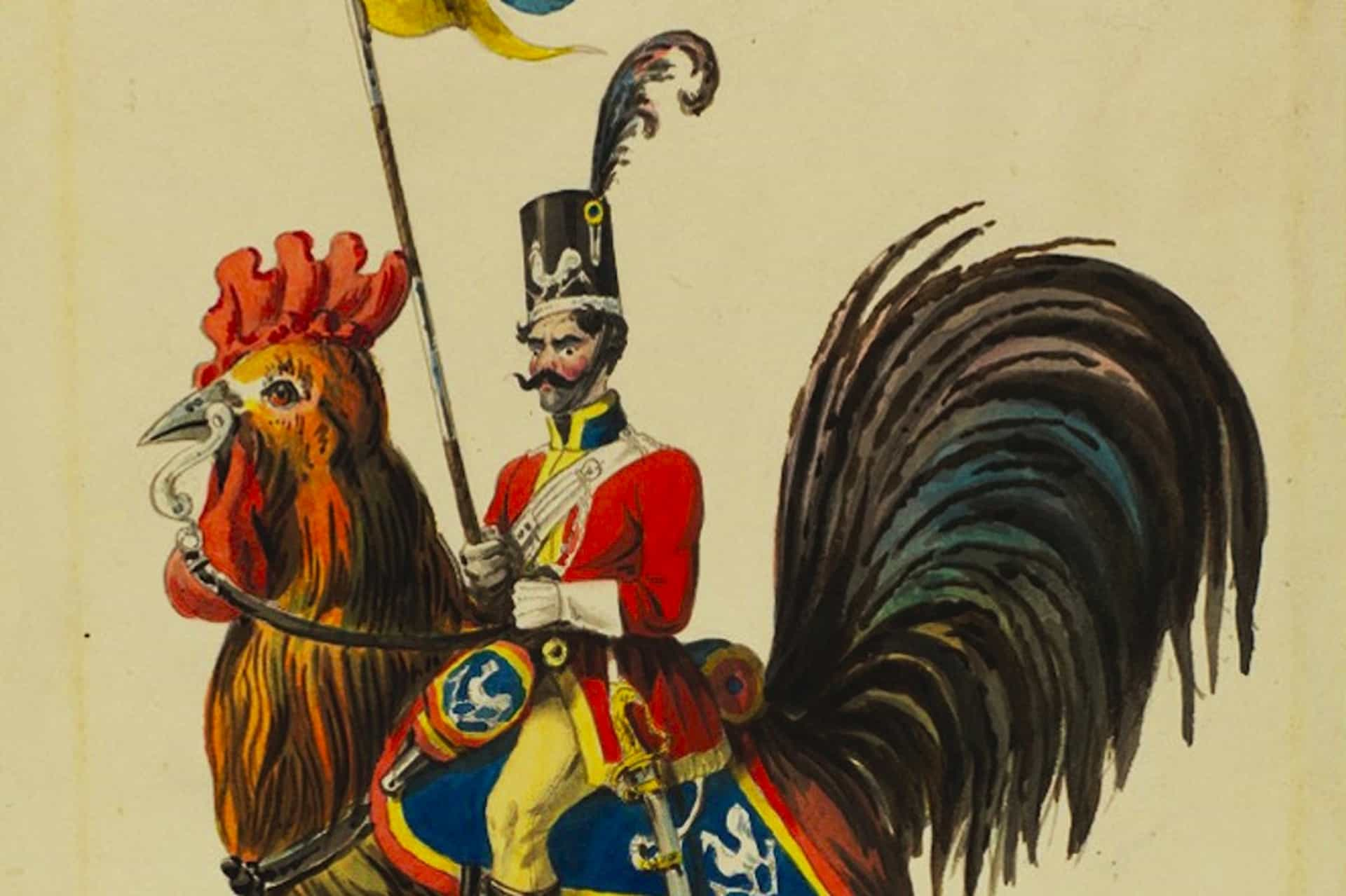Rooster by Prince Alexander of Hesse courtesy of The University of Southampton