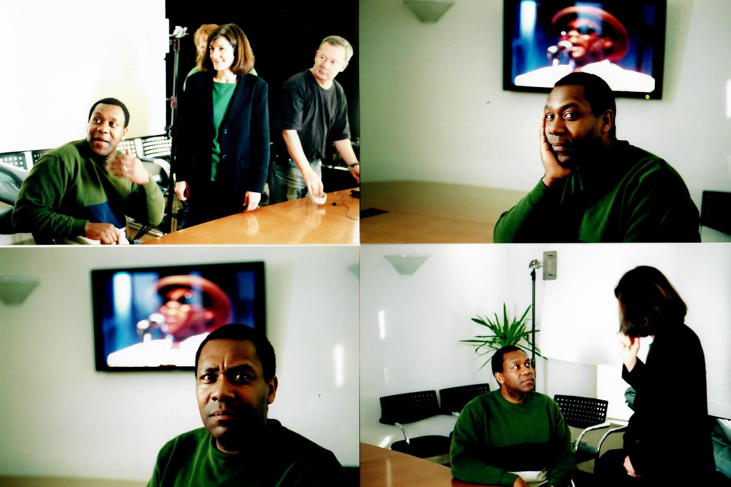 "Writer, actor, standup comedian and singer <strong>Sir Lenny Henry CBE</strong> filming Amnesty feature doc ""Remember the Secret Policeman's Ball"" with Margy Kinmonth. Henry revisits some of the great moments. Photos by Johnny Haddock."