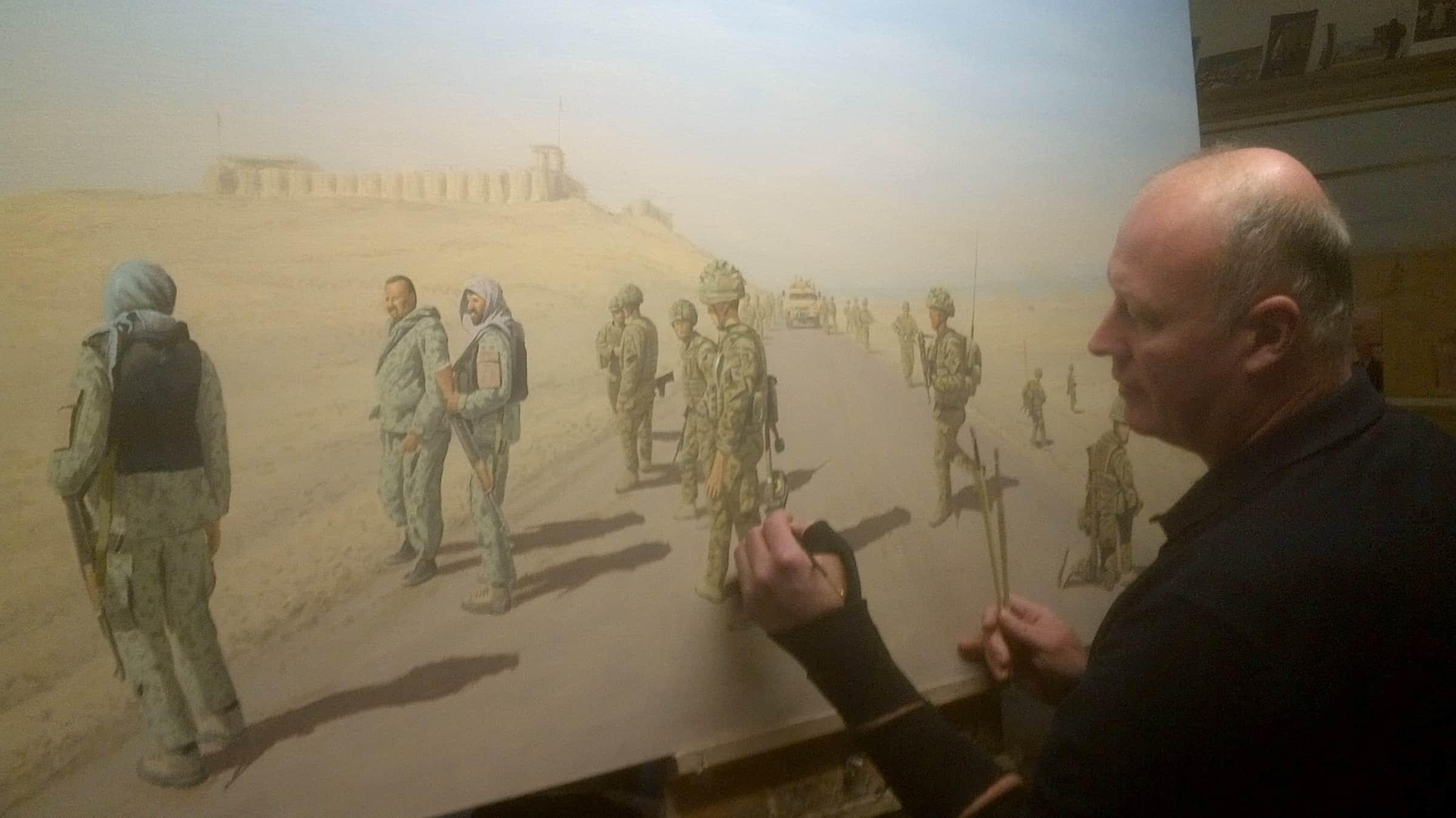 Graeme Lothian. On The 611 Helmand. Photograph courtesy of Graeme Lothian