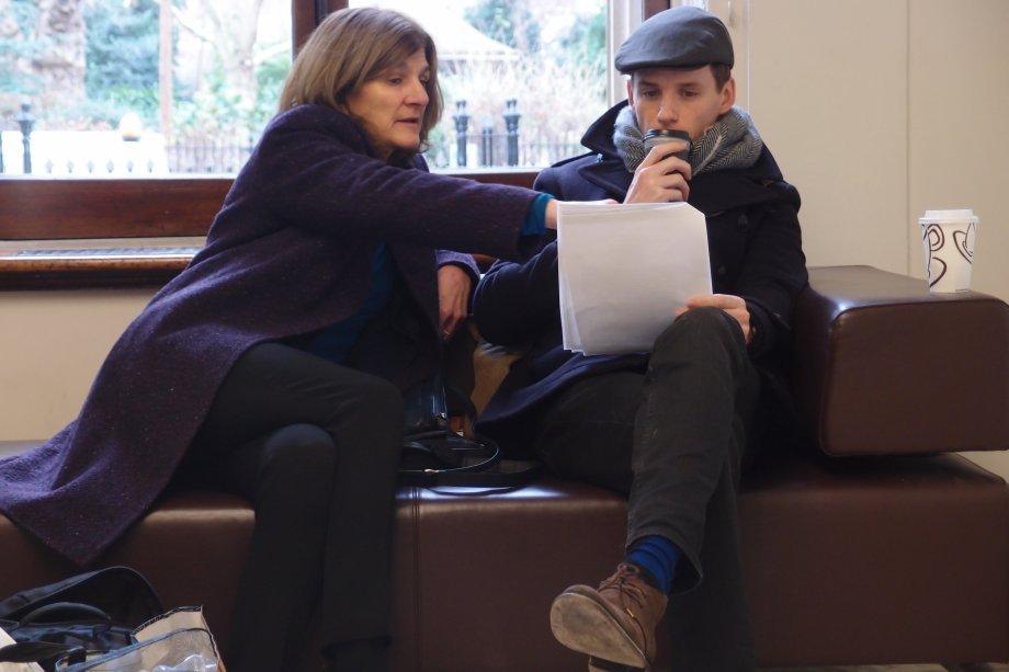 Director Margy Kinmonth with Eddie Redmayne.  Photograph © www.foxtrotfilms.com