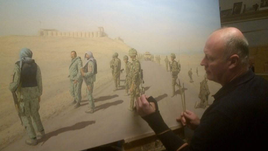 Graeme Lothian. On The 611 Helmand. Photograph courtesy of Graeme Lothian