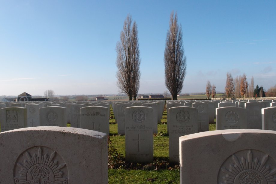 Tyne Cot Cemetery. Photograph © www.foxtrotfilms.com
