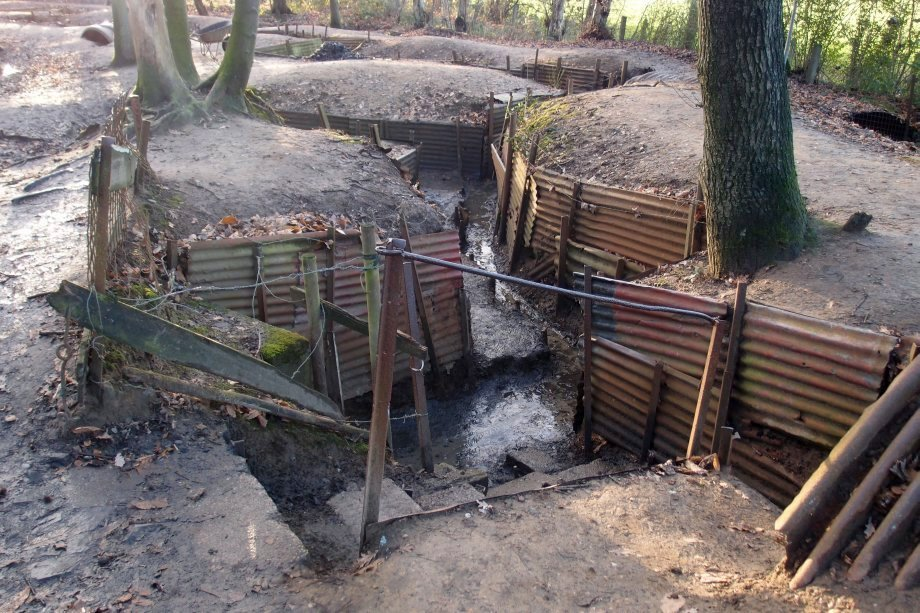 World War One Trenches. Photograph © www.foxtrotfilms.com