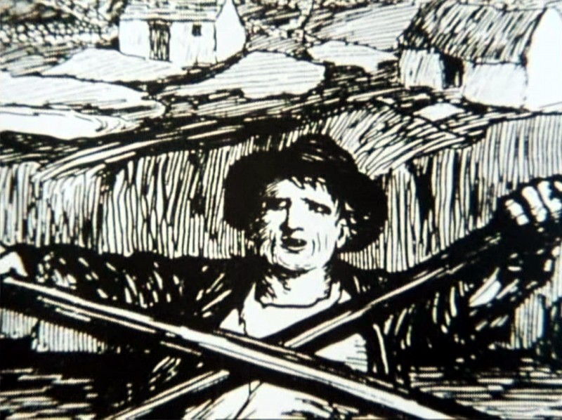 Drawing of ferryman by Jack Yeats