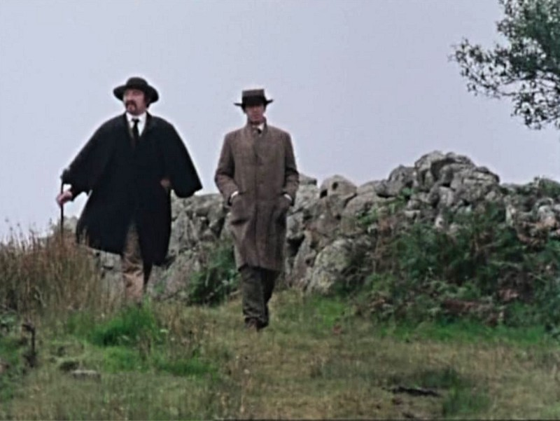 Synge and Yeats walking
