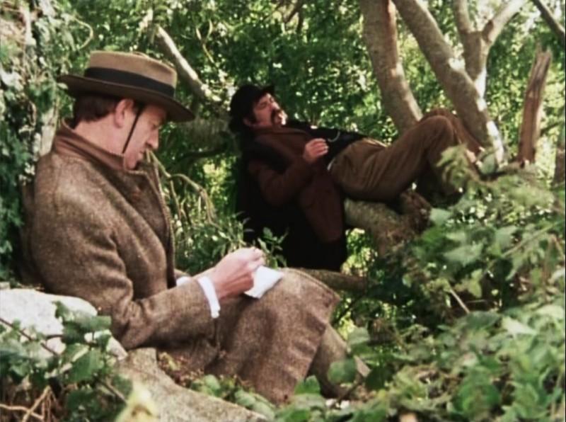 Jack Yeats (Tom Hickey) sketching J.M. Synge (Pat Laffan)