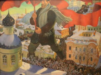 The Bolshevik by Boris Kustodiev. © www.foxtrotfilms.com